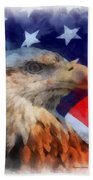 American Flag Photo Art 03 Beach Towel