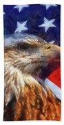 American Flag Photo Art 04 Beach Towel