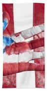 American Flag Beach Towel