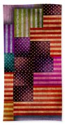 American Flags Beach Towel by Tony Rubino