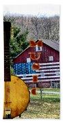 American Folk Music Beach Towel