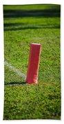 American Football Field Marker Beach Towel