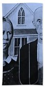 American Gothic In Colors Beach Towel