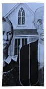 American Gothic In Cyan Beach Towel