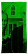 American Gothic In Green Beach Sheet