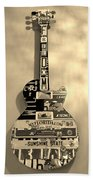 American Guitar In Sepia Beach Sheet