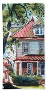 American Home With Children's Gazebo Beach Towel by Kip DeVore