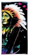 American Indian Silo Beach Towel
