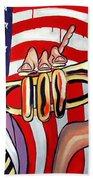 American Jazz Man Beach Towel
