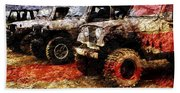 American Jeeps Beach Towel