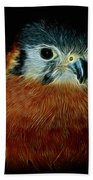 American Kestrel Digital Art Beach Towel