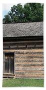 American Log Cabin Beach Towel by Frank Romeo