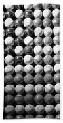 American Pastime In Black And White Beach Towel