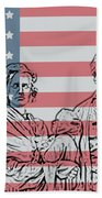 American Patriots Beach Towel by Dan Sproul
