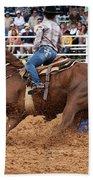 American Rodeo Female Barrel Racer White Blaze Chestnut Horse IIi Beach Towel
