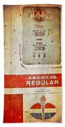 American Standard - Vintage Fuel Pump - Casper Wyoming Beach Towel