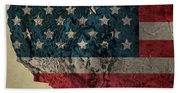 American West Topography Map Beach Towel