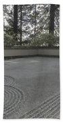 American Zen Rock And Raked Gravel Garden - Portland Oregon Beach Towel