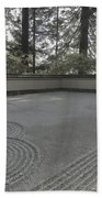 American Zen Rock And Raked Gravel Garden - Portland Oregon Beach Sheet