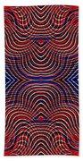 Americana Swirl Design 10 Beach Towel