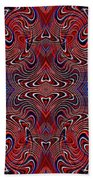 Americana Swirl Design 2 Beach Towel