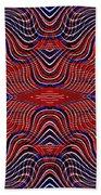 Americana Swirl Design 9 Beach Towel