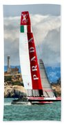America's Cup And Alcatraz Ll Beach Towel