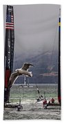 Americas Cup Oracle Team Usa V Artemis Racing Beach Towel