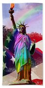 America's Statue Of Liberty Beach Towel