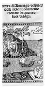 Amerigo Vespucci, 1505 Beach Towel