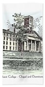 Amherst College - Chapel And Dormitories Beach Towel