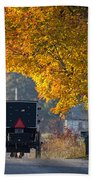 Amish Buggy Fall 2014 Beach Towel