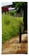 Amish Buggy On Dirt Road Beach Towel