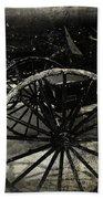 Amish Cart Wheels Grunge Beach Towel
