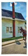 Amish Country Ride Beach Towel