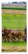 Amish Farmer Beach Towel by Guy Whiteley