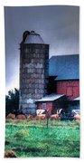 Amish Farming 2 Beach Towel