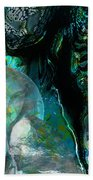 Ammonite Seascape Beach Towel