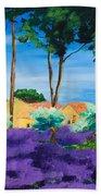 Among The Lavender Beach Towel