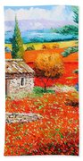 Among The Poppies Beach Towel