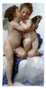 Amor And Psyche  Beach Towel