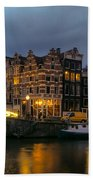 Amsterdam Corner Cafe Beach Towel