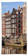 Amsterdam Houses Ar Sunset Beach Towel