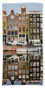 Amsterdam Houses By The Singel Canal Beach Sheet