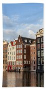 Amsterdam Old Town At Sunset Beach Towel