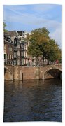 Amsterdam Stone Arch Bridge Beach Towel
