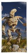 An Advanced Robot On An Exploration Beach Sheet