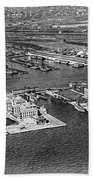 An Aerial View Of Ellis Island Beach Towel
