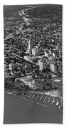 An Aerial View Of Miami Beach Towel