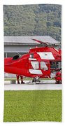 An Agustawestland Aw109 Helicopter Beach Towel